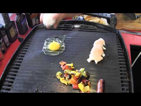 Grill Mat works good saves the mess