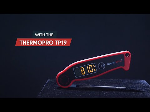 Introducing ThermoPro TP19 Waterproof Auto-Rotating Display Instant-Read Thermometer